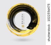 vector black and gold circle... | Shutterstock .eps vector #1022556475