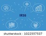 conceptual business... | Shutterstock . vector #1022557537
