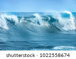 wave in atlantic ocean | Shutterstock . vector #1022558674