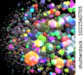 background of hexagons with... | Shutterstock .eps vector #1022560705