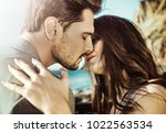 elegant man man posing with his ... | Shutterstock . vector #1022563534