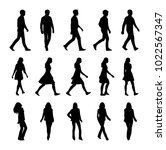Vector Set Of Walking People...