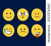 set of smile icons. emoji....   Shutterstock .eps vector #1022576365