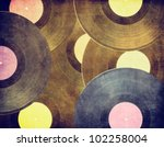 vintage musical background ... | Shutterstock . vector #102258004