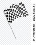 chequered flag flying. vector... | Shutterstock .eps vector #1022580157