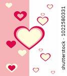heart on pink background | Shutterstock .eps vector #1022580331