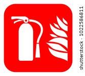 fire extinguisher vector sign... | Shutterstock .eps vector #1022586811