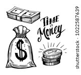 sketch of money. hand drawn... | Shutterstock .eps vector #1022587639