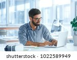 bussiness man work in the... | Shutterstock . vector #1022589949
