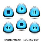 audio button. vector | Shutterstock .eps vector #102259159