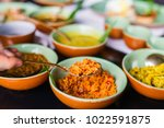 coconut sambal close up on... | Shutterstock . vector #1022591875