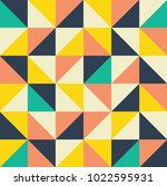 seamless colorful geometric... | Shutterstock .eps vector #1022595931