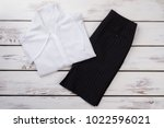 set of female formal clothes ... | Shutterstock . vector #1022596021