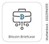 bitcoin briefcase icon. modern... | Shutterstock .eps vector #1022596555
