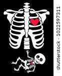 pregnant. funny skeletons mom...   Shutterstock .eps vector #1022597311