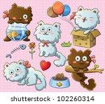 cute kitty | Shutterstock .eps vector #102260314