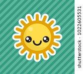 cute kawaii smiling sun cartoon ...   Shutterstock .eps vector #1022605531