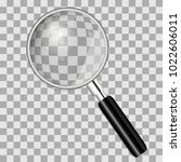 magnifying glass isolated on... | Shutterstock .eps vector #1022606011