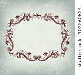 vector vintage border frame... | Shutterstock .eps vector #102260824