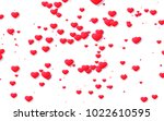 red and pink heart. valentine's ... | Shutterstock . vector #1022610595