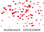 red and pink heart. valentine's ... | Shutterstock . vector #1022610604