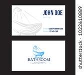 business card for plumbing... | Shutterstock .eps vector #1022610889