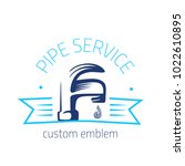 vector logo of plumbing service ...   Shutterstock .eps vector #1022610895