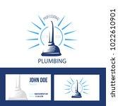 business card for plumbing...   Shutterstock .eps vector #1022610901