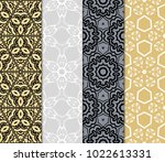 set of 4 vector seamless patern ... | Shutterstock .eps vector #1022613331