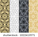 set of 4 decorative ethnic... | Shutterstock .eps vector #1022613571