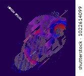 abstract vector background dot... | Shutterstock .eps vector #1022614099