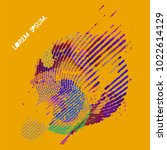 abstract vector background dot... | Shutterstock .eps vector #1022614129