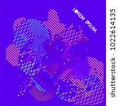 abstract vector background dot... | Shutterstock .eps vector #1022614135