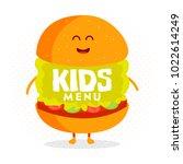 kids restaurant menu cardboard... | Shutterstock .eps vector #1022614249