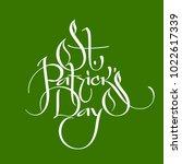 saint patrick day greeting... | Shutterstock .eps vector #1022617339