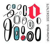 letters o set. different styles.... | Shutterstock .eps vector #1022617675