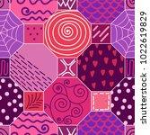 cute modern tile pattern ... | Shutterstock .eps vector #1022619829