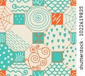 cute modern tile pattern ... | Shutterstock .eps vector #1022619835
