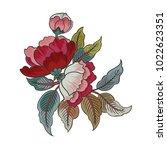 exotic vector flowers for... | Shutterstock .eps vector #1022623351