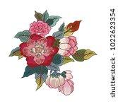 exotic vector flowers for... | Shutterstock .eps vector #1022623354