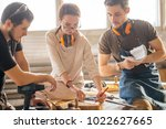 Small photo of Group of students in woodwork training course
