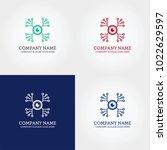 digital camera vision tech logo ... | Shutterstock .eps vector #1022629597