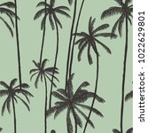 palm tree pattern. seamless... | Shutterstock .eps vector #1022629801