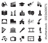 culture icons. black flat... | Shutterstock .eps vector #1022630071