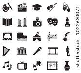 Culture Icons. Black Flat...