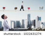 stages of businessman life | Shutterstock . vector #1022631274