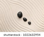 zen sand and stone garden with... | Shutterstock . vector #1022632954