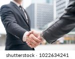 business handshake and business ... | Shutterstock . vector #1022634241
