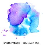 colorful abstract watercolor... | Shutterstock .eps vector #1022634451