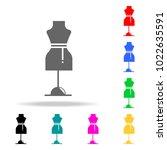 dressmaker model icon. element...